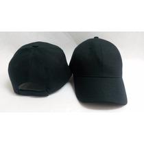 Gorra Unicolor Negra Especial Para Bordar