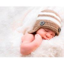 Gorros Tejidos Crochet Bebés Niñas Moda Regalos