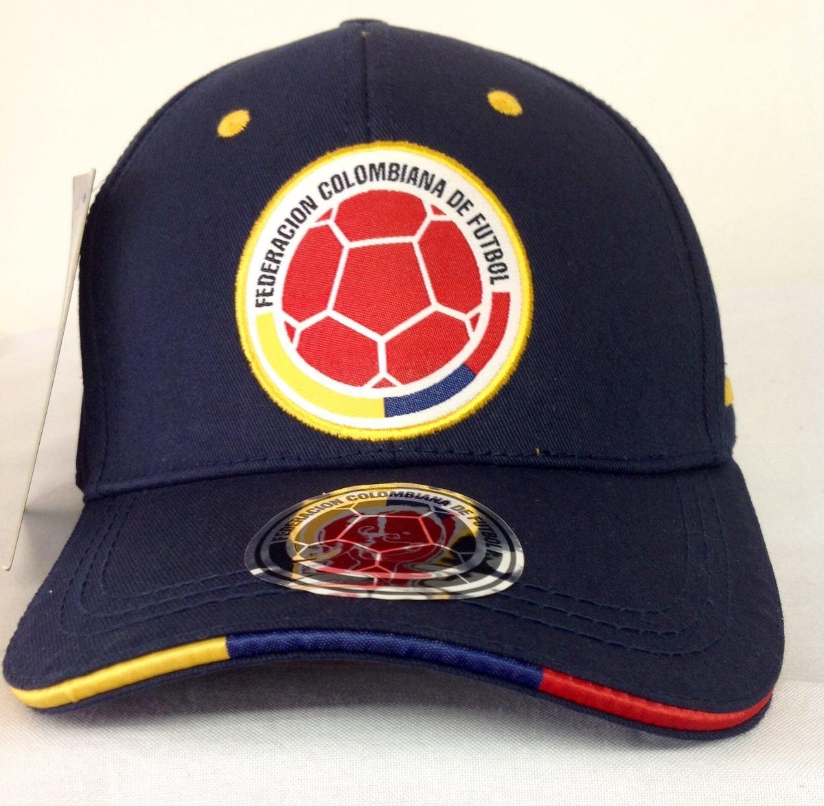 gorras oficiales selección colombia de fútbol azul v  curva. Cargando zoom. 74b8bd68868