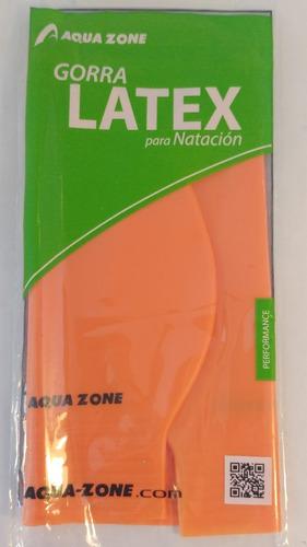 gorras  para natación de latex marca aquazone
