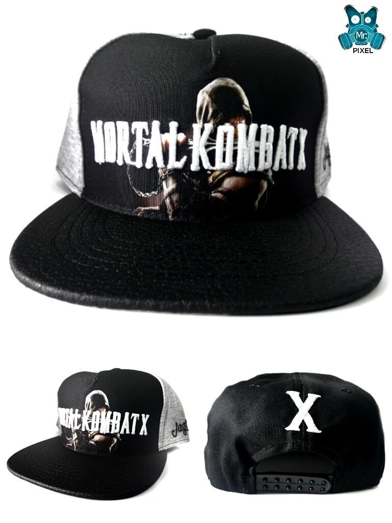 1e469920e00c8 Gorras Planas Mortal Kombat Snapback Videojuegos -   25.000 en ...