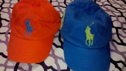 gorras polo niños hasta 2 años, de 2 a 4ños y de 5 a 7años