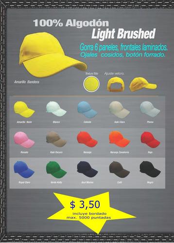 gorras publicitarias con bordado , al por mayor