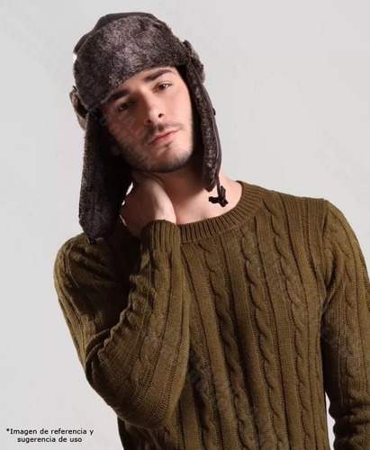 gorras rusas ushanka esquimal estilo ruso aviador chocolate