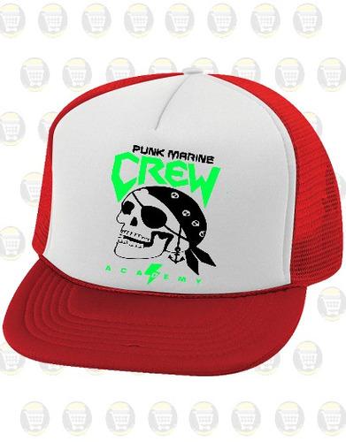 gorras tipo camionero personalizadas r: calavera pirata punk