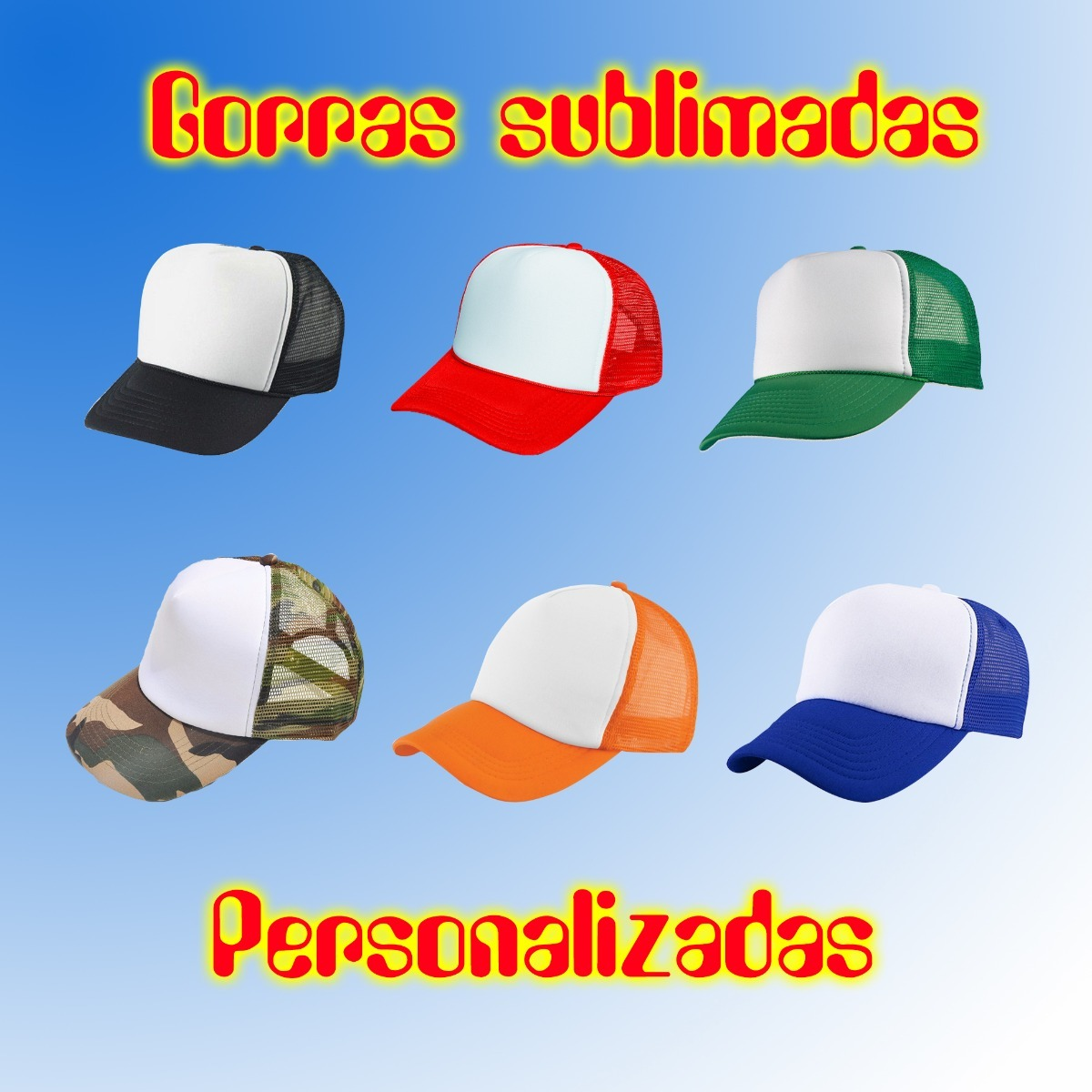 gorras trucker personalizadas sublimadas por docena. Cargando zoom. 11110961ca8