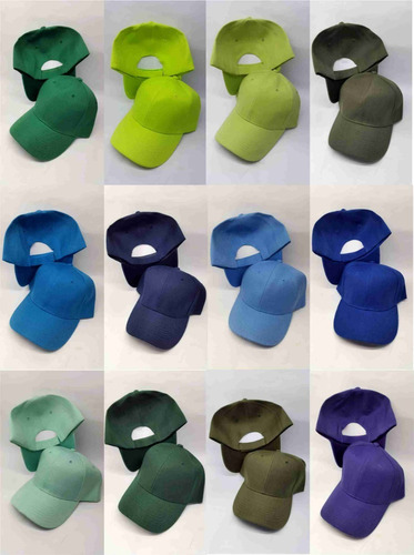 gorras unicolor bordadas o sin bordar