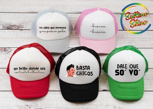 gorras - viceras personalizadas- casamientos cumpleaños