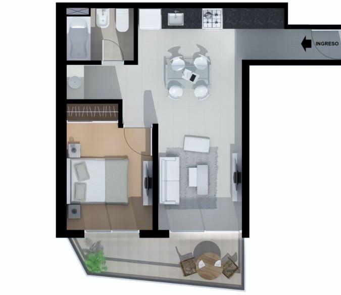 gorriti / alberdi. departamento de 1 y 2 dormitorios con pileta.
