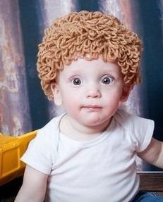 gorrito a crochet estilo cabbage patch niño