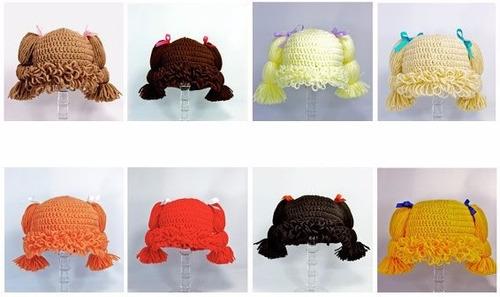 gorrito de crochet estilo cabbage patch