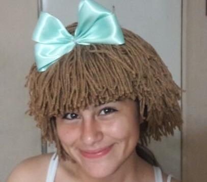 gorrito de crochet estilo cabbage patch hat
