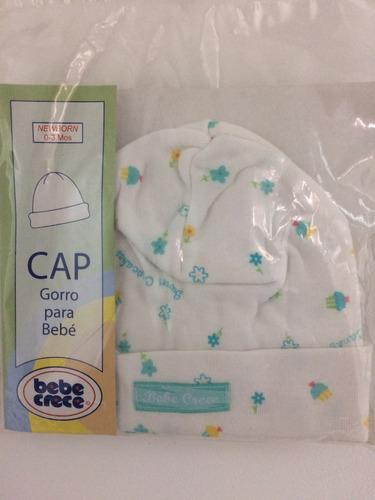 gorrito para bebe marca bebe crece puro algodón