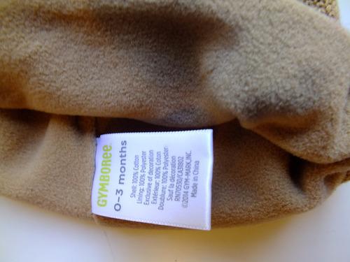 gorrito tejido con polar interno gymboree 0 a 3 meses - usa