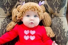 gorritos cabbage patch tejidos niñas bebés nmr