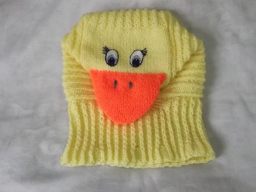 gorritos mod. pasamontaña de animalitos tejidos para bebe