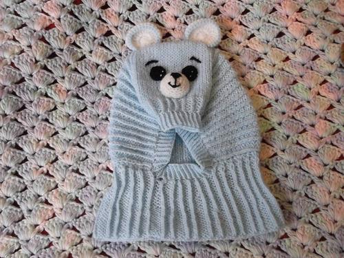 gorritos pasamontaña  de animalitos tejidos para bebe
