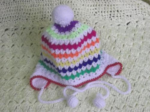 gorritos tejidos a mano para bebe, el  regalo ideal