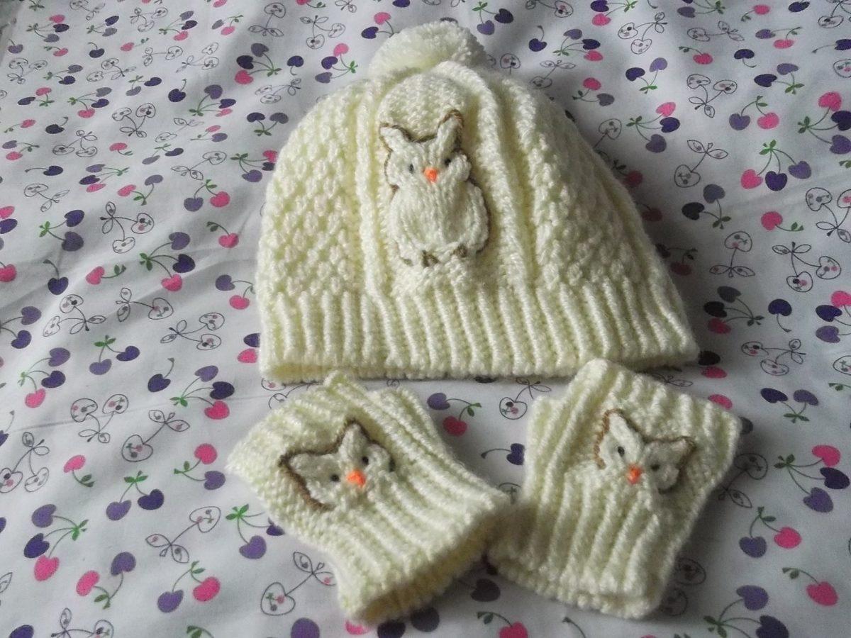 Gorritos Y Mitones En Juego Tejidos A Crochet Para Bebe - S/ 50,00 ...