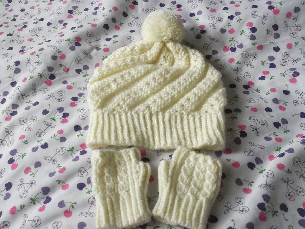 Gorritos Y Mitones En Juego Tejidos A Crochet Para Bebe - S  50 1432bee1b29