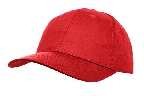 gorro 100% algodón lisos color rojo.