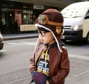 gorro aviador infantil - pronta entrega