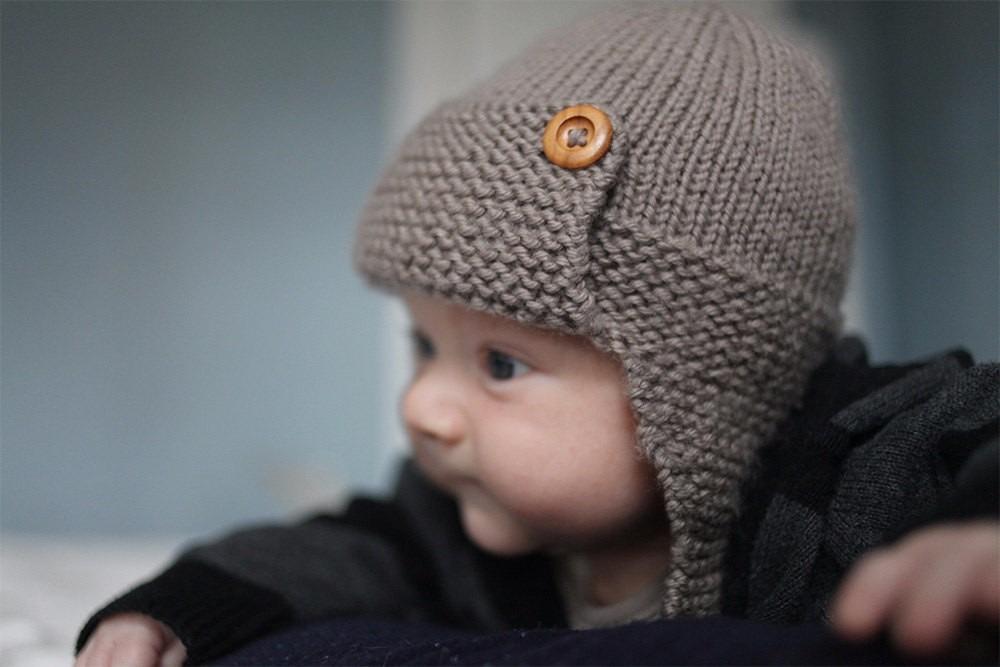 Hermosa Patrón De Sombrero De Bebé De Punto Libre Galería - Manta de ...