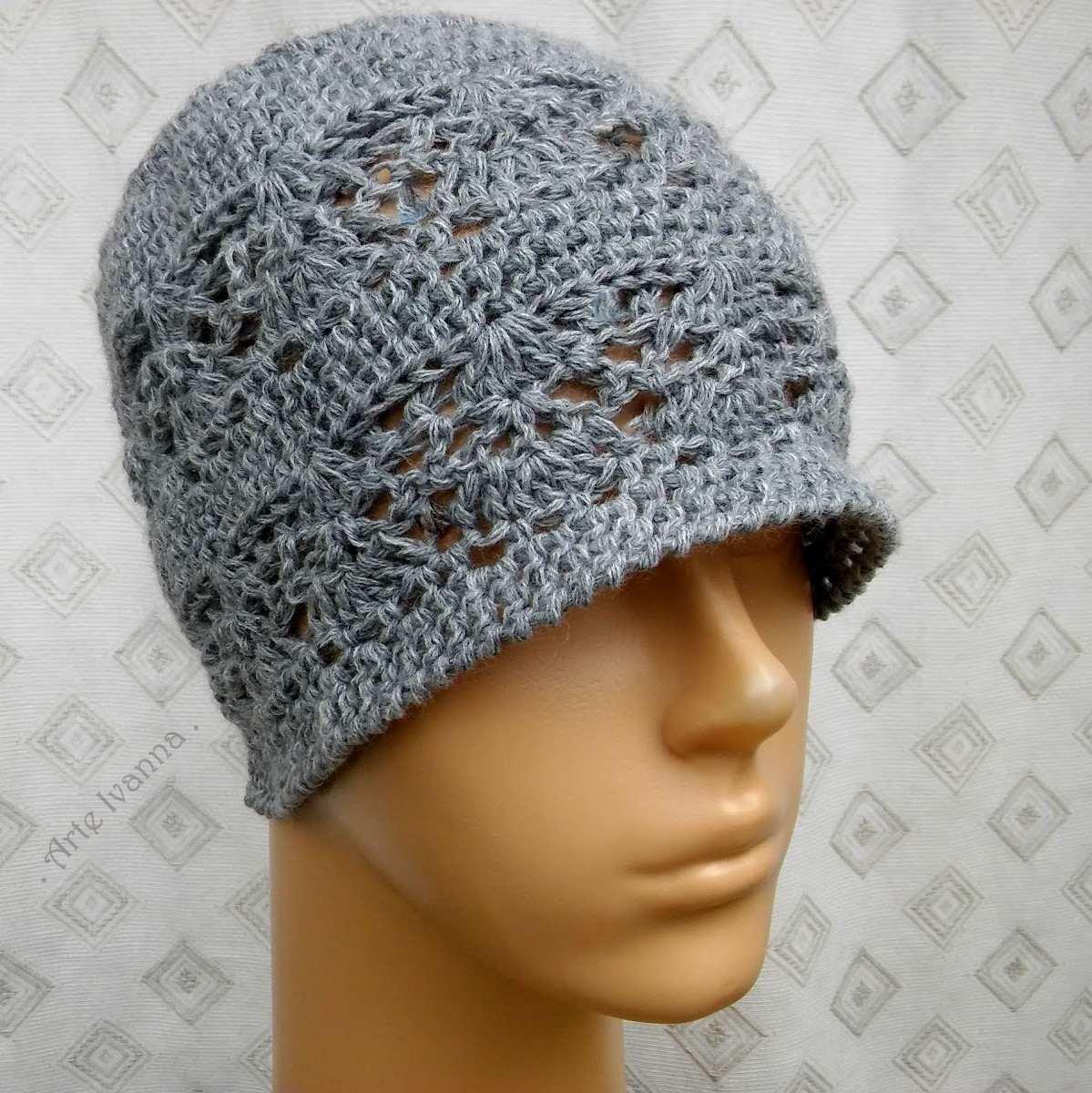 3c9ada6e90e7d gorro beanie cloche lana tejido mano crochet mujer lady gray. Cargando zoom.