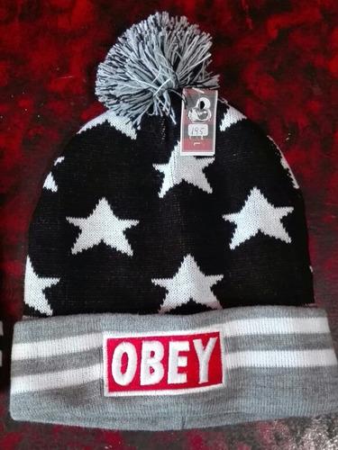 gorro beanie obey estrellas. lana skate