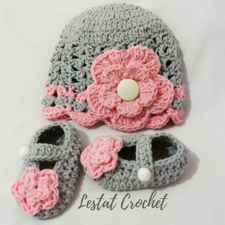 396d2d442 Gorro Bebe Niña Dama Tejido A Mano Crochet Otoño Invierno - $ 350,00 ...