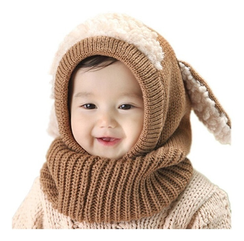gorro bebe niños frió abrigador en lana