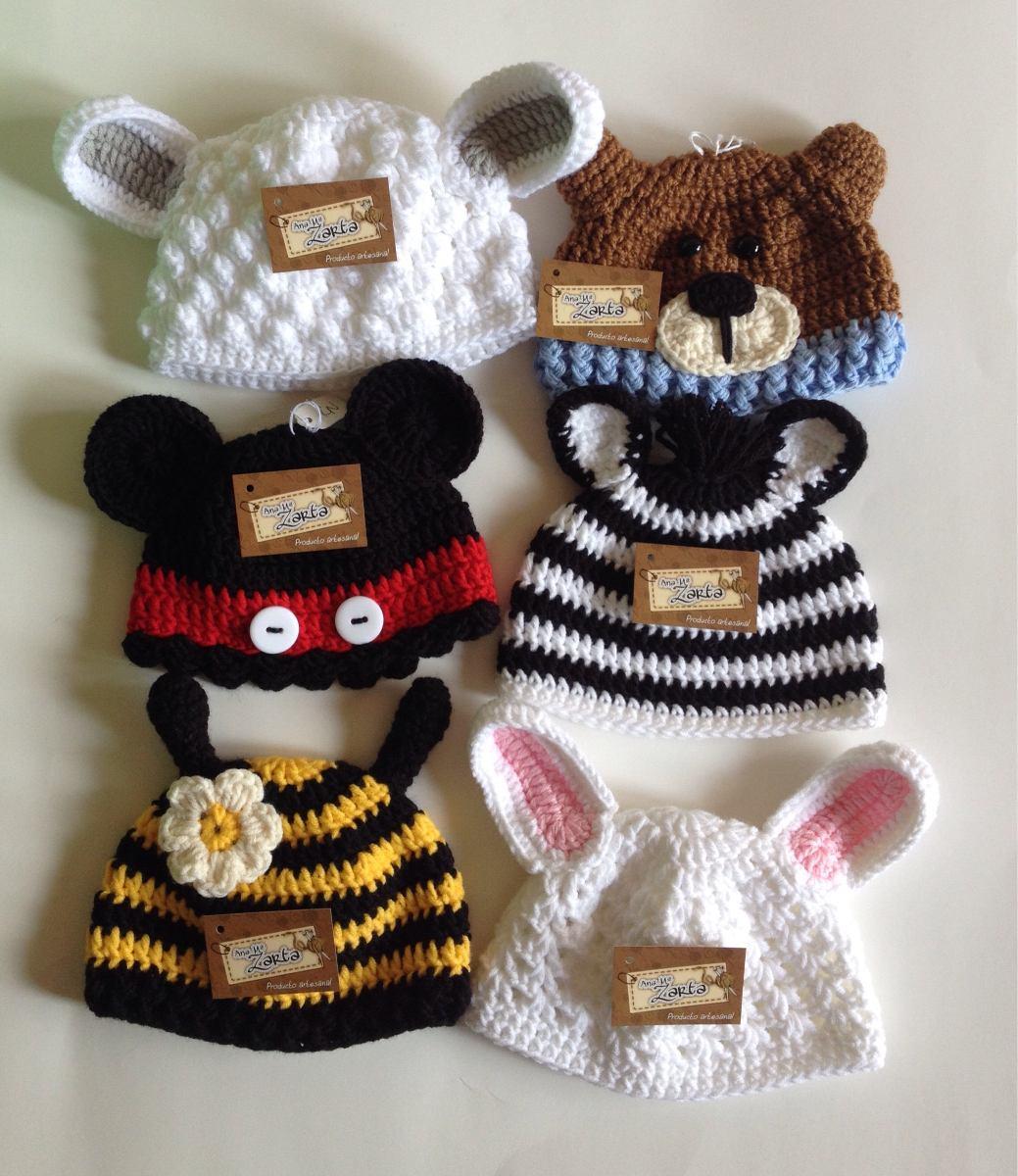 gorro bebe tejido a mano crochet animalitos niño niña fotos. Cargando zoom. ce44a6194b7