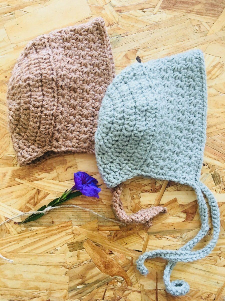 ad2b77229 Gorro Bebe - Tejido En Crochet (vintage Bonnet) -   210.00 en ...