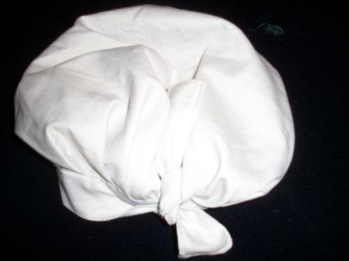 gorro blanco de uniforme,ideal panadero,cocinero,etc