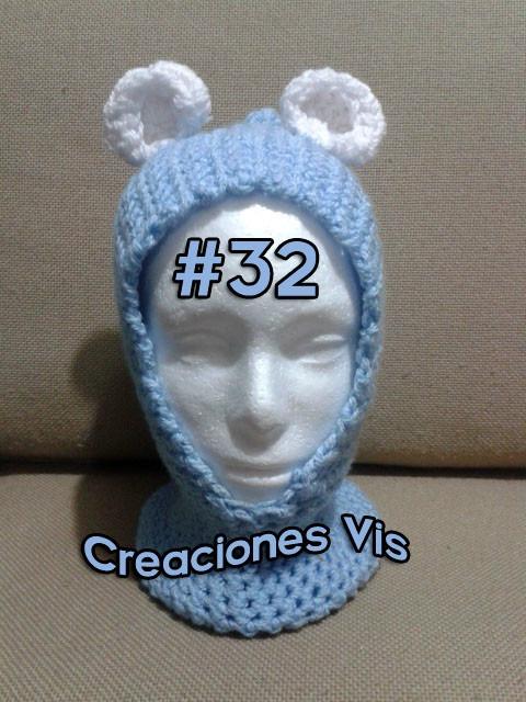 Gorro Boina Hipster De Moda Tejido A Mano Crochet Tallas -   150.00 ... a531934ab82