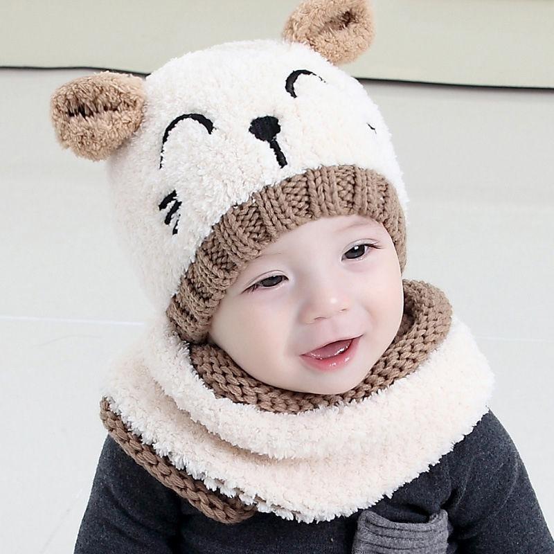 gorro bufanda bebé niños niñas frio cuello invierno rosado. Cargando zoom. 4cb4db8c89a