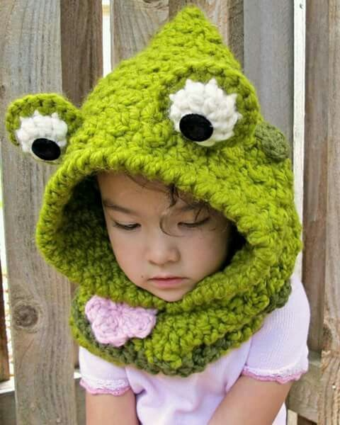 Cuello Oso Capucha Crochet