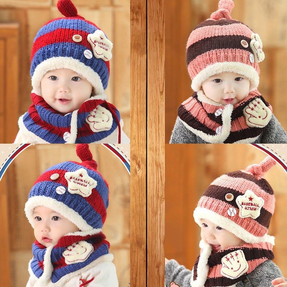Gorro + Bufanda Set Bebes niños Lana - Forrado - Suaves!! -   299 60606c8a2be
