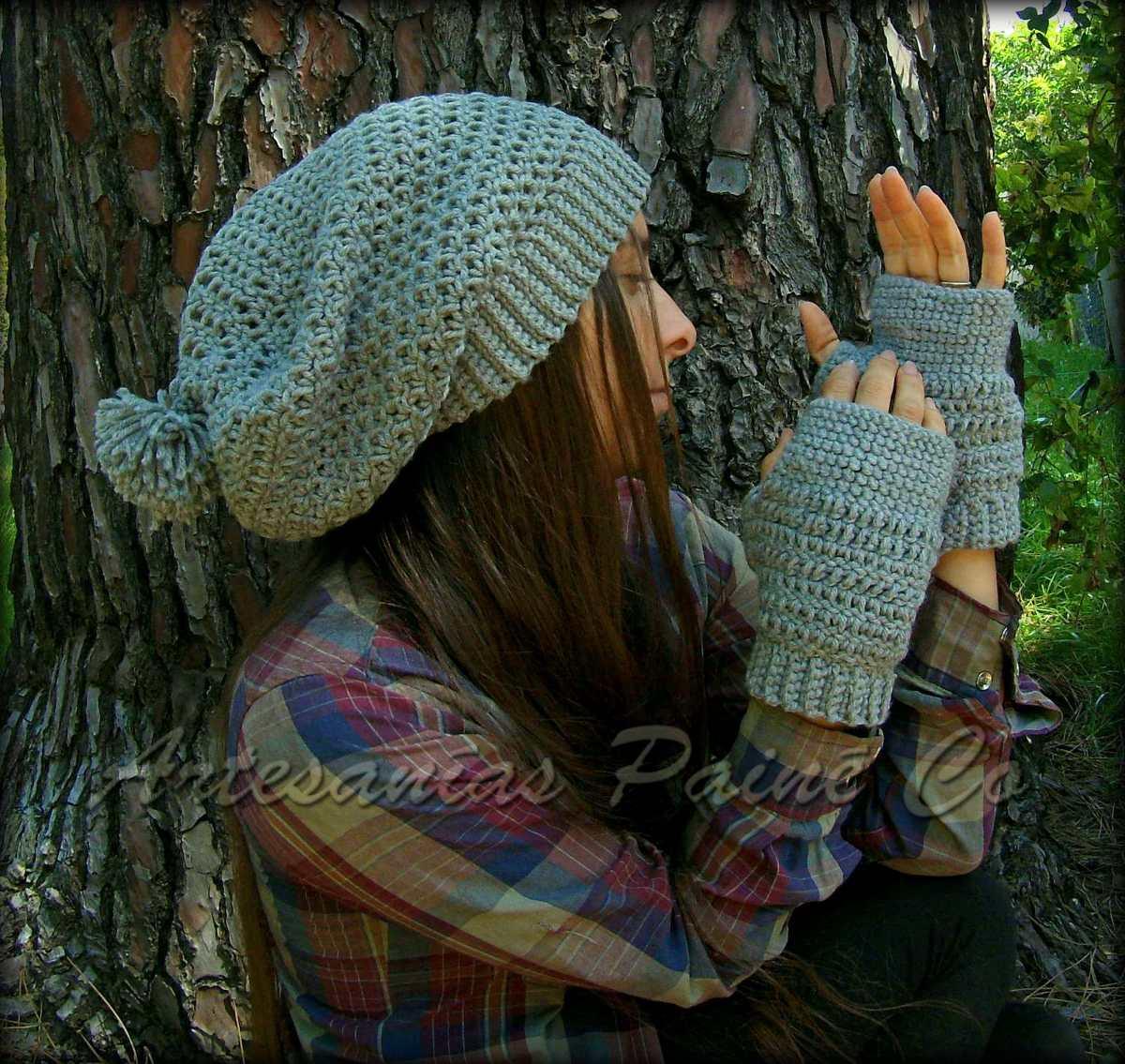Gorro Caido Tejido A Crochet. Artesanal!! - $ 300,00 en Mercado Libre