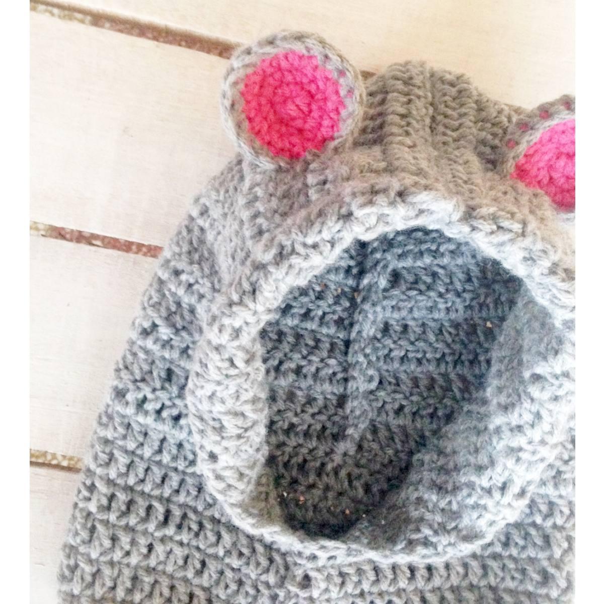 Gorro Capucha Tejido Al Crochet Teddy Con Orejitas - $ 360,00 en ...