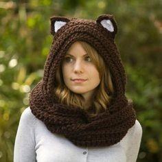 62be89770432e Gorro Capucha Tejido Crochet Con Cuello Adulto -   80.000 en Mercado ...