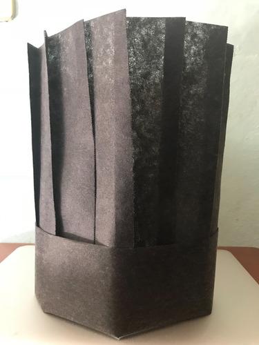 gorro chef de pellon 20x65 cms plisado con 100