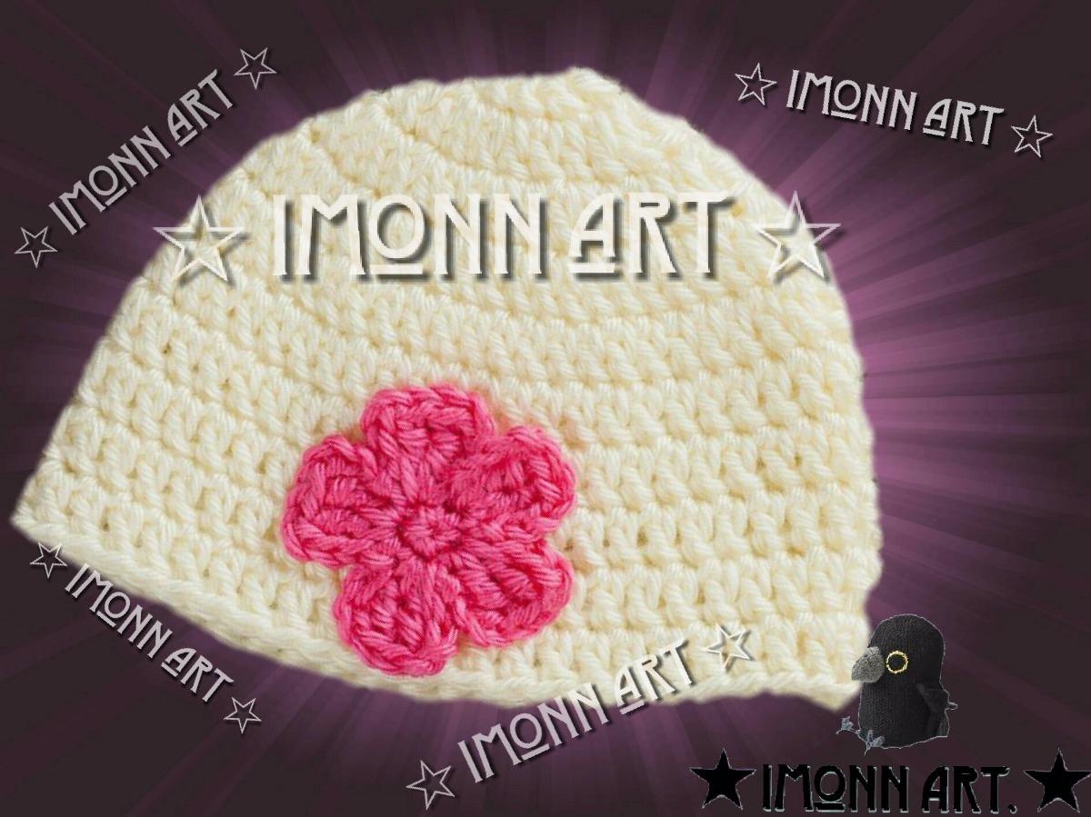 Gorro Cn Flor, Tejido A Mano, Artesanal, Crochet! - $ 150.00 en ...