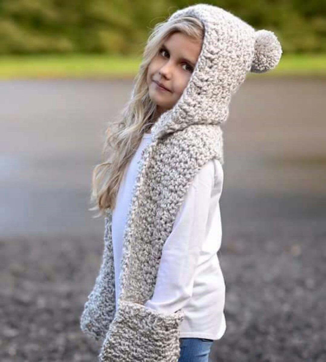 gorro con bufanda tejido