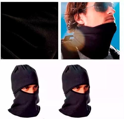 gorro cuello c/ cordon abrigo termico polar - sti motos