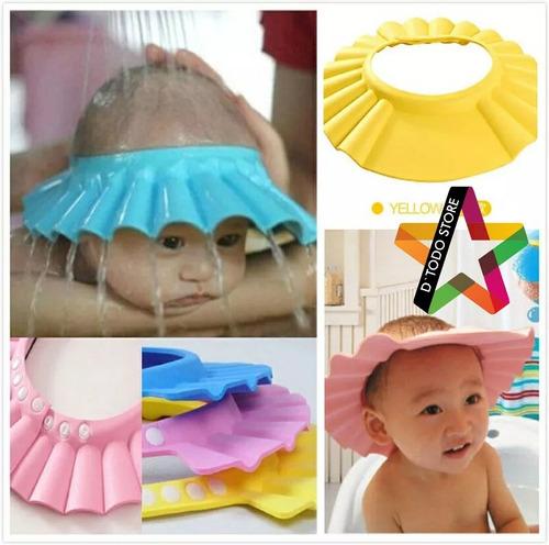 gorro de baño para bebés - protector de ducha