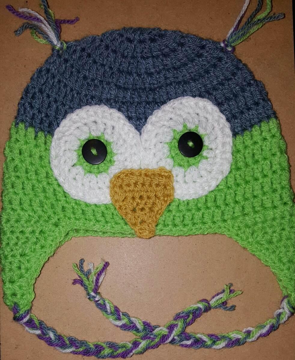 Dorable Búho Patrón De Crochet Sombrero Ornamento - Manta de Tejer ...