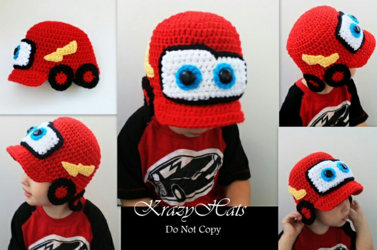 Cars crochet hat hats ideas reviews gorro de cars tejidos crochet para bebes y ni os bankloansurffo Choice Image