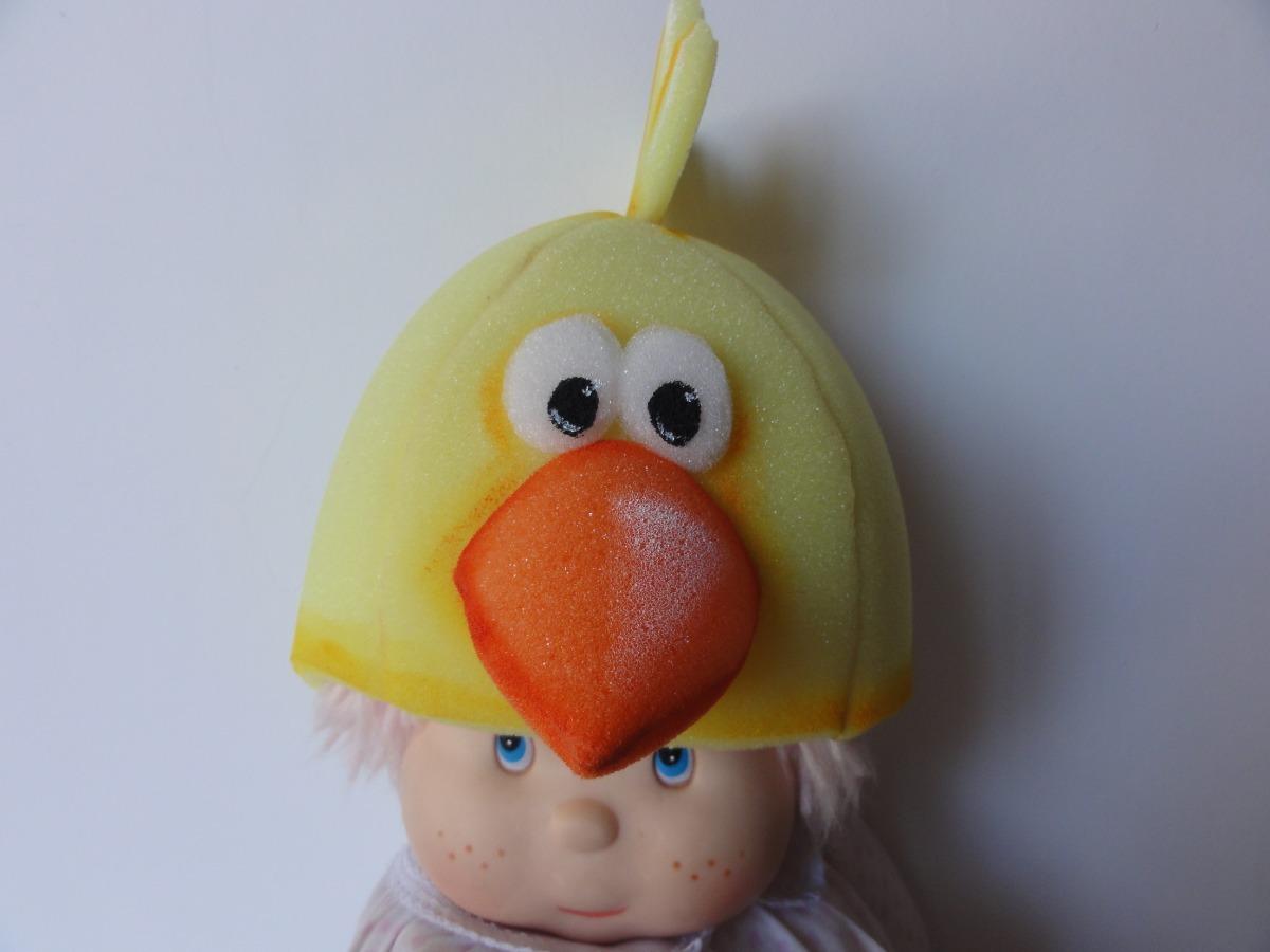309cae52933 Gorro De Goma Espuma Cotillon Pollito Pato (niños adultos) -   390 ...