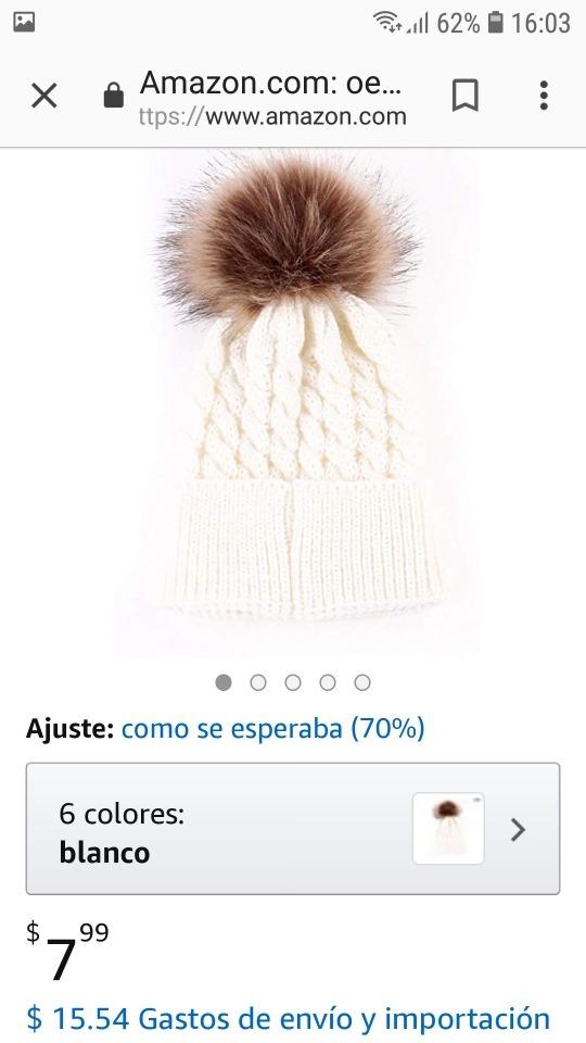 gorro de lana con pompón borla de pelo para bebés 2.500. Cargando zoom. a688e74089e